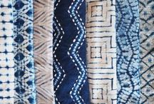 Hand Dye Ideas / Dye inspirations - shibori, vegetable dye, sun dye, dip dye, ice dye, stitched and folded and wrapped fabrics