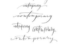 Modern Calligraphy / Modern calligraphy font styles