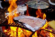 FOOD : Camping and campervan foods / Sitting around the fire? Cooking on one ring? Burying a pot under the ground? Here are the best camping and campervan recipes and cooking tips! / by A Thrifty Mrs