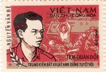 Vietnamese Propaganda Stamps / Collection of Vietnamese Propaganda Stamps