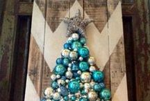 Tree Shaped Decor and Art / Trees are cute indoors too! I love these looks for both the holiday season and some for everyday.