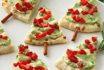 Holiday Food and Christmas Tree Shaped Food / Here are some fun tree shaped food ideas.