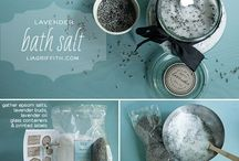 Apothecary: Bath Salts Recipes / Soothing recipes and packaging ideas for bath salts that include essential oils and flowers.