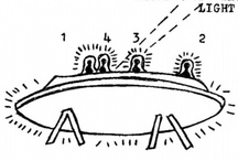 UFOs (The APE Gallery) /  This is a kind of visionary folk art gallery that features the sketches produced by people who claim to have seen U.F.O.s.