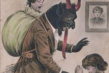"""It's Krampus time!!!??..huh? / """"Krampus is a beast-like creature from the folklore of Alpine countries thought to punish bad children during the Christmas season, in contrast with Saint Nicholas, who rewards nice ones with gifts. Krampus is said to capture particularly naughty children in his sack and carry them away to his lair..."""" http://en.wikipedia.org/wiki/Krampus <<<But seriously, WTF???"""