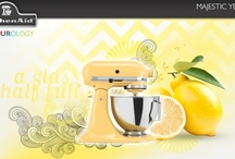 Majestic Yellow / This shade embodies four simple words: Think happy, live happy. Majestic Yellow is cheery and light-hearted, reminding you to embrace the brighter side. Whether your kitchen is adorned by pine or stainless steel, a splash of sun is stylish in every season. To find your colour, visit http://kitchenaidcolourology.ca