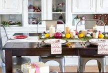 ROOMS - Dining Room / Decor and design inspiration for your dining room, including tablescapes and centerpieces