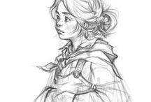 Sketches & Sketchbooks / Illustration an fine art sketches