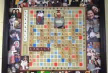 Scrabble tile and game board crafts / by Sandy Messier