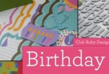 Birthday Time / All things Birthdays!  Handmade Cards, Scrapbook Pages, Party Themes, Ideas and More
