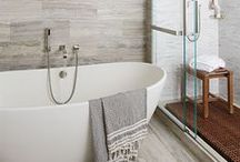 Bathrooms / These bathrooms make you want to stay and and linger! Design and decor, combined with natural stones and tile, all converge to make the bathroom a luxurious living area. / by Marble Systems, Inc.