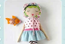 DOLLS / Handmade cloth or fabric dolls / by Patricia Rothman Brown