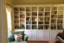 Home Library / I'm an author and have a lot of books! Besides my own stash of books, and all the books from my author friends, I needed somewhere to put them. These built-ins are beautiful as well as functional. I loved styling them with quirky touches.