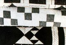 fabric mosaics / quilts