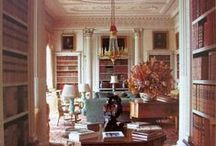 Home Library/Office / It would be lovely to work in a room full of books!