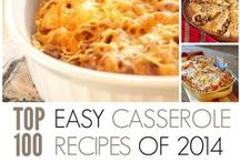 Top Easy Casserole Recipes of 2014 / Find the top 100 easy casserole recipes of 2014 right here. With a large variety of chicken casserole recipes, ground beef casserole recipes, breakfast casserole recipes, and more, these are the best of the best. / by AllFreeCasseroleRecipes