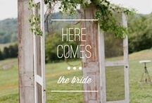 here comes the bride. / Wedding ceremony inspiration. / by Borrowed & Blue Occasions