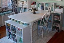 craft room/craft storage :) / by Allison Tharp
