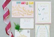 the invitations. / by Borrowed & Blue Occasions