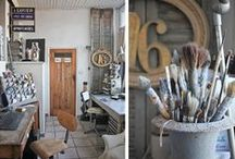 Smashing Art Studios and Work Spaces / Art studios, work spaces, home offices. Studios that I crave