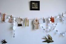 I LOVE Garlands! / paper, felt, fabric- I Love garlands!