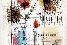 Art Journals/ Art pages/ Scrapping/ Handmade books / cool art pages, journals, scrapping and books