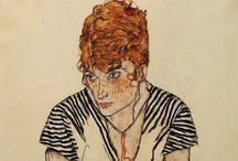 art by Egon Schiele / by Gaelle Mellis