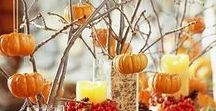Autumn and Thanksgiving decor / design, fall, autumn, Thanksgiving, tablescapes, home decor, diy