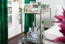 BAR CARTS / A fun accessory for a multitude of spaces. Such versatile pieces!