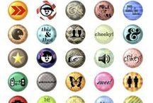 freebies : tout en rond / la forme ronde a quelque chose de particulier... elle s'adapte à de nombreux dies et perforatrices... elle correspond à de nombreux supports, aussi (boutons, badges, brads, bottle cap...) et certaines mises en page lui sont parfaitement adaptées... voici donc des ronds de toutes sortes et tailles : cupcake toppers, étiquettes, pendants, embellissements, bottle caps... c'est comme vous voulez, maintenant, à vous de jouer !... (s'y glissent quelques carrés qui permettent les mêmes utilisations)  / by Isabelle de Beukelaer
