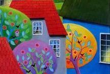 Folkart , Rustic, Primitive style / all kinds of folk art, primitive, art, paintings, sculpture, fiber work, toys