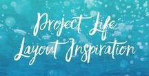 PROJECT LIFE LAYOUT INSPIRATION / Becky Higgins und ihr System Project Life gibt es mit Papier, Digital oder als App. Es ist aber Pocket Scrapbooking und egal in welcher Form man es betreibt, man kann einfach schöne Layouts erstellen.