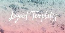 LAYOUT TEMPLATES / Templates für Collagen und Layouts für deine Fotobücher und Alben.