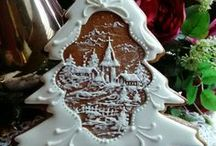 gingerbread houses and cookies / gingerbread, houses, cookies and cakes