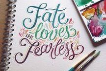 typography / calligraphy