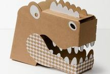 Recycled Cardboard Creativity / All the creative things kids & grownups make make with cardboard.
