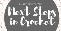 Learn from Me: Crochet Next Steps / Awesome links for great projects and to help you build your basic crochet skills. Get 50% off my Next Steps in Crochet class using this link! www.craftsy.com/ext/KimWerker_5110_H