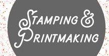 Stamping and Printmaking / Block printing, screen printing, stamp carving, all kinds of printing printing.