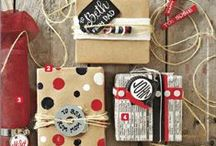 Wrap the Gifts / Wrapping the gifts and party favours can be fun and can add something personal...I am trying to put some nice and easy to do ideas here.