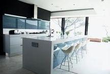 glass wall cladding / glass splashbacks, wall cladding and writing boards.