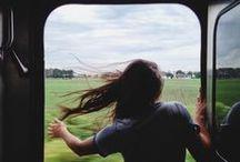 Beautiful slow train travel