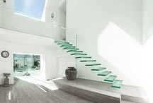 glass ..structured / floors, stairs and pool rimflows