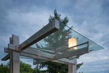 glass SKYLIGHTS / skylights and porticos using glass.