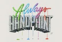Typography & Lettering / Typography and Lettering