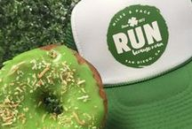 """St. Patrick's Day Run Trucker Hats / Run for the """"Green""""! We love St. Patrick's Day and all the festivities that come along with it. So it was only fitting to design a St. Patrick's Day run trucker hat."""