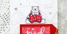Christmas cards / Handmade Christmas card by Dana Card Design