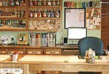 {home/studio} Art room & Studio Set-up / set-up, organization, decorating for home studio and school art room