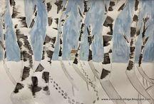 {art lessons} winter