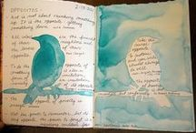 {art lessons} books / journals / sketchbook ideas, prompts, experiments