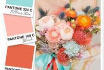{wedding/events} color trends / Ideas for wedding color schemes!